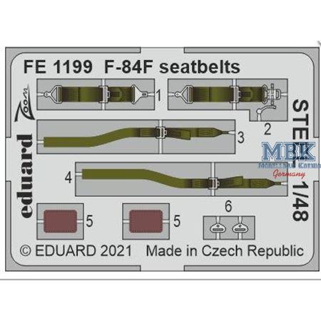 F-84F Seatbelts STEEL 1/48