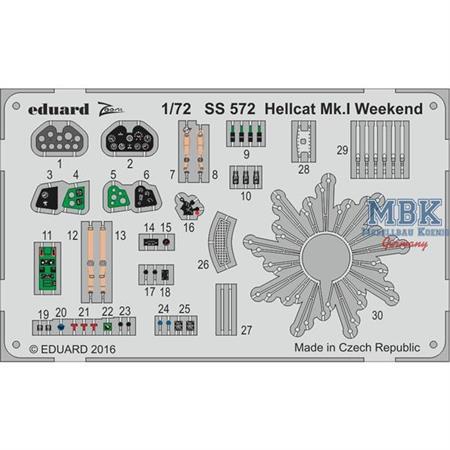Hellcat Mk. I Weekend  kl. Ätzteilset  1/72