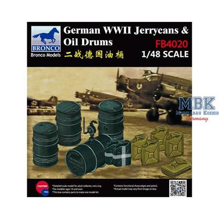 German WWII Jerrycans & Oil Drums