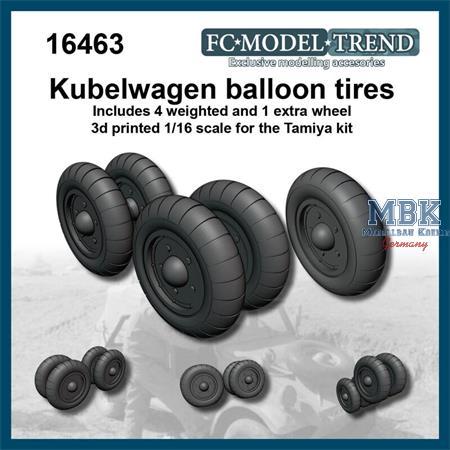 Kübelwagen weighted desert tire wheels