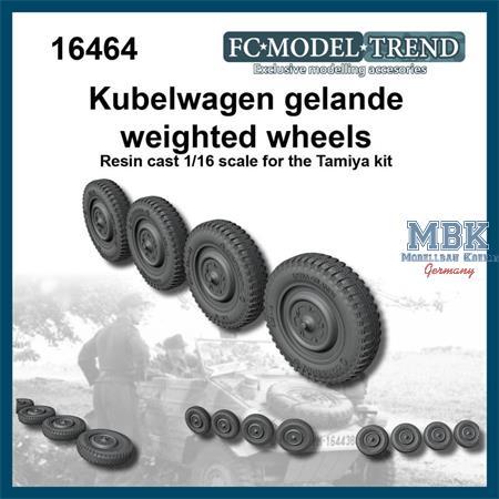 Kübelwagen weighted tires