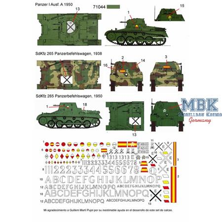Panzer I in Spain decals