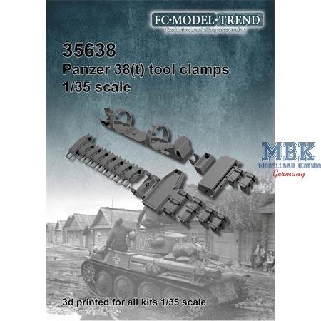 Panzer 38(t) tool clamps