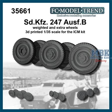 Sd.Kfz.247 weighted wheels