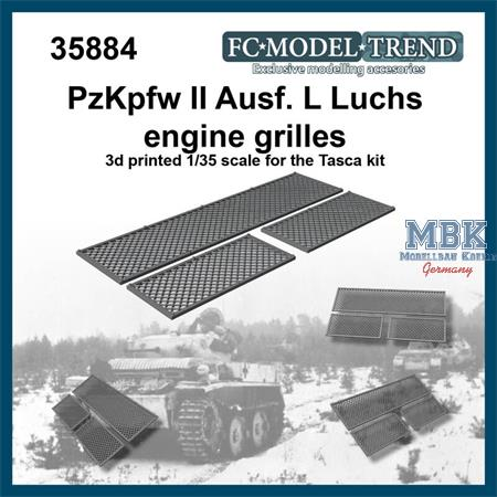 Panzer II Ausf.L Luchs engine cover mesh grilles