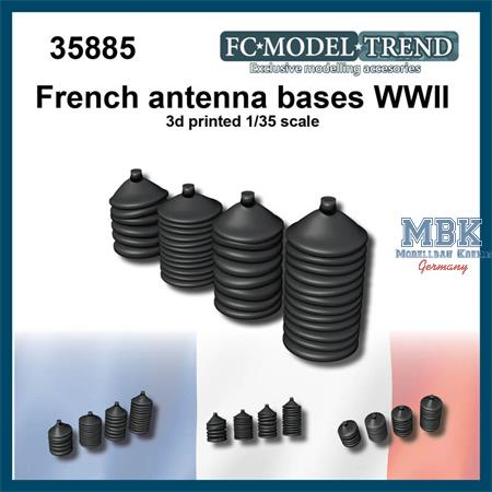 French WWII tanks antenna bases