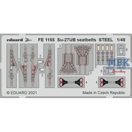 Sukhoi Su-27UB seatbelts STEEL 1/48