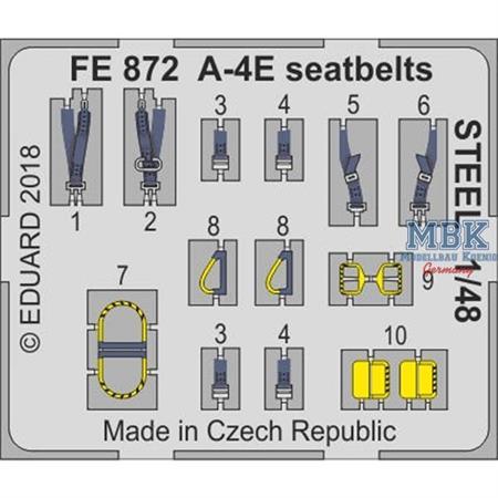A-4E seatbelts STEEL 1/48