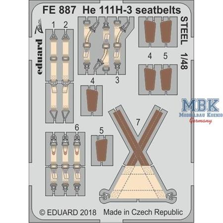 He 111H-3 seatbelts STEEL 1/48