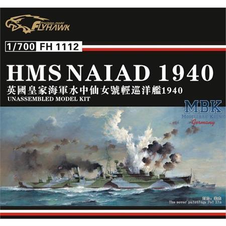HMS Naiad Light Cruiser 1940