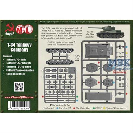 Flames Of War: T-34 Tankovy Company