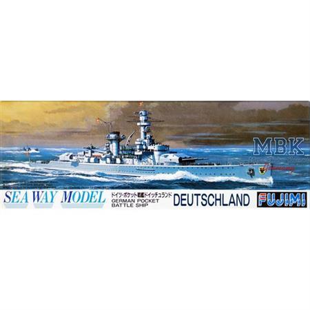"""Westentaschen Schlachtschiff """"Deutschland"""" 1/700"""
