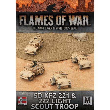 Flames Of War: Sd Kfz 221 & 222 Light Scout Troop