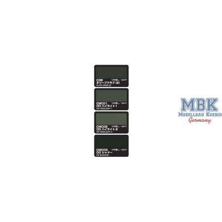Color Modulation Set Olive Drab Version 4x18ml