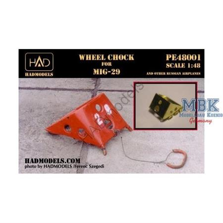 Wheel chock for MiG-29 and other