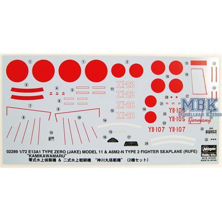 E13A1 Type Zero JAKE Mod. 11 + A6M2 N-Type2 RUFE