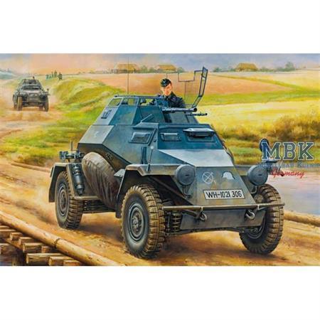 German leichter Panzerspahwagen Sd.Kfz.222 mid