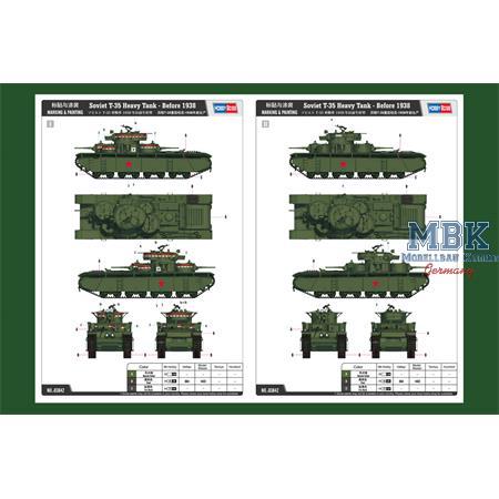 Soviet T-35 Heavy Tank - Before 1938