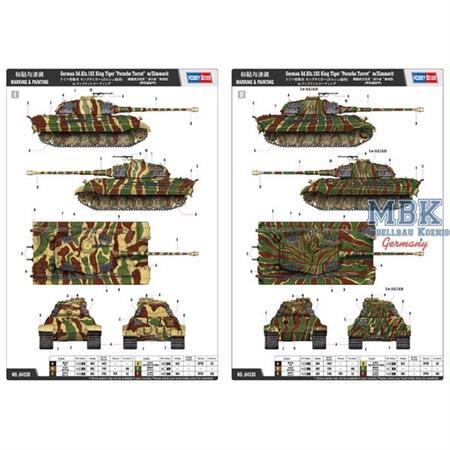 """Sd.Kfz.182 King Tiger """"Porsche Turret"""" w/ Zimmerit"""
