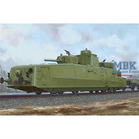 Soviet Armored Train MBV-2 (late F-34 gun)