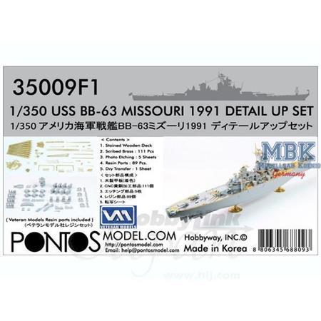 USS BB-63 Missouri 1991 Detail set