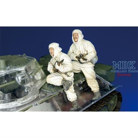Russian Inf. Riding with T-34  - 2 Figures