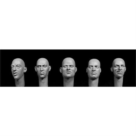 5 European bald heads