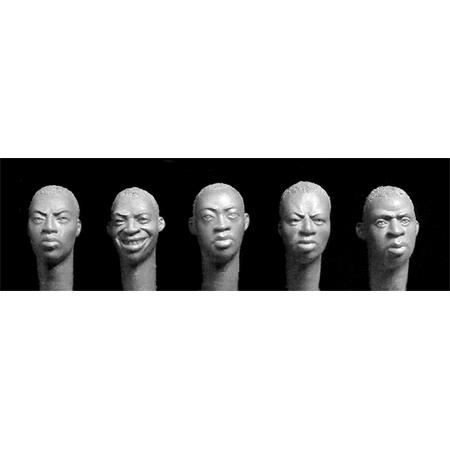 5 diffrent  sub-Saharan African heads