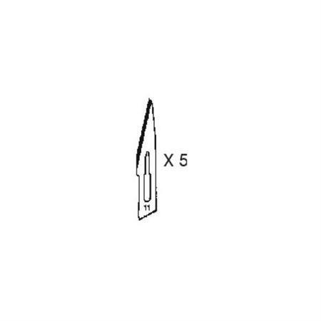 #11 Klingen Set für Skalpell/Bastelmesser (5 Stück