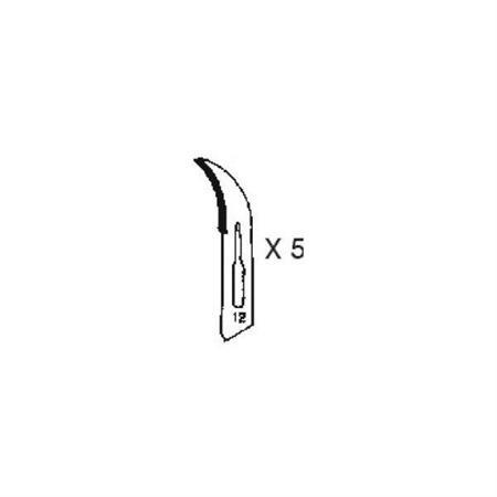 #12 Klingen Set für Skalpell/Bastelmesser (5 Stück