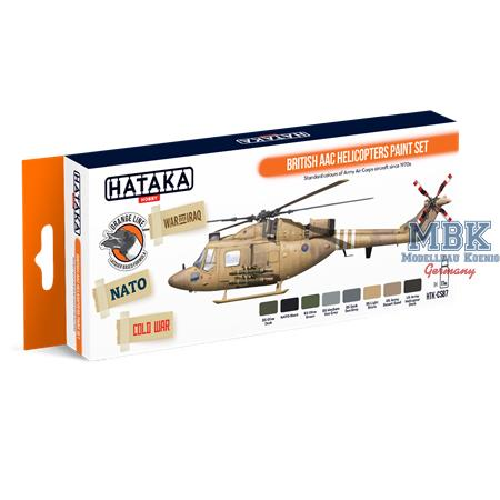 British AAC Helicopters paint set (Lacquer paint)