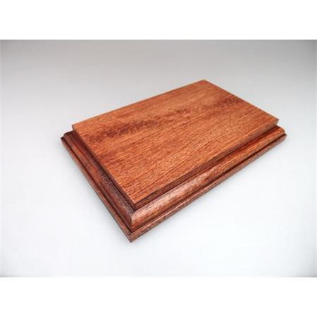 Holzsockel, 15 x 10cm, Mahagoni