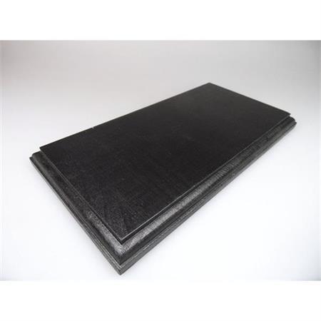 Holzsockel, 25 x 13cm, schwarz