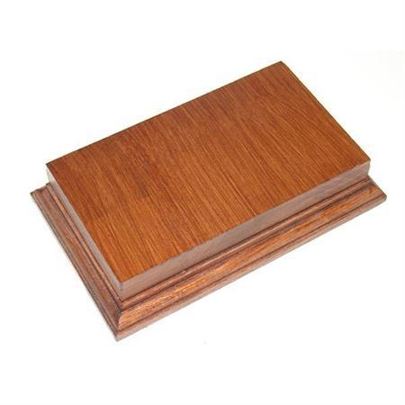 Holzsockel (doppelt hoch), 20 x 11cm, Mahagoni