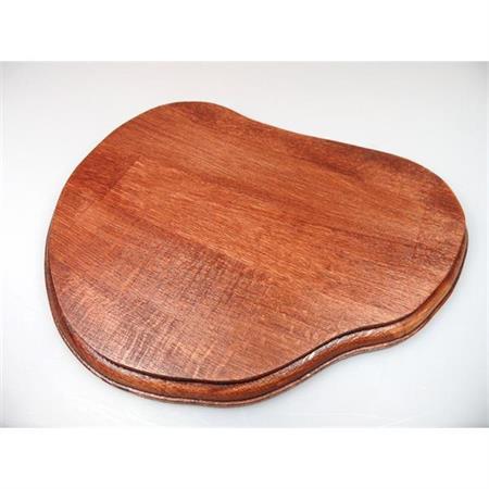 Holzsockel, unregelmäßig Form 1, 24cm, Mahagoni