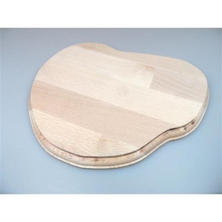 Holzsockel, unregelmäßig Form 1, 24cm, unbehandelt
