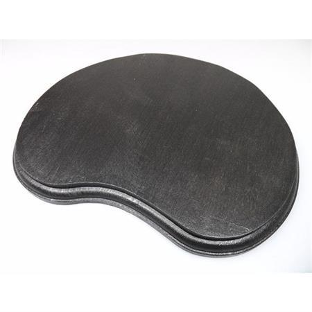 Holzsockel, unregelmäßig Form 2, 28cm, schwarz