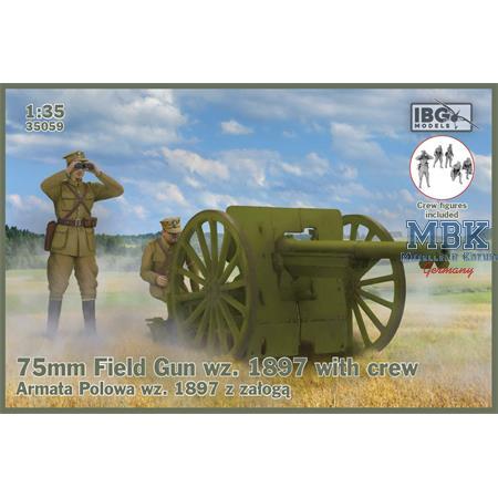 75mm Field Gun wz.1897 with Polish Artillerymen