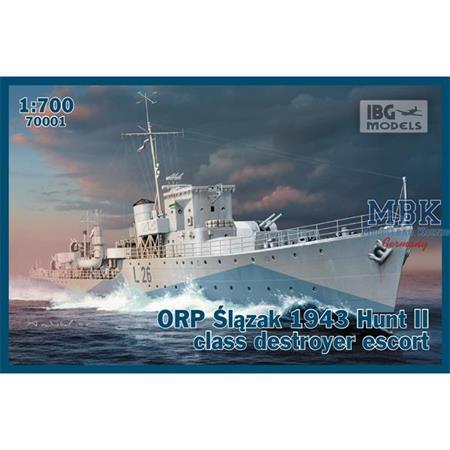 ORP Slazak 1943 Hunt II class destroyer escort