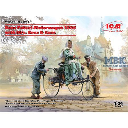 Benz Patent-Motorwagen 1886 w/Mrs.Benz & sons