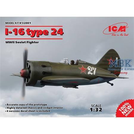 I-16 type 24, WWII Soviet Fighter