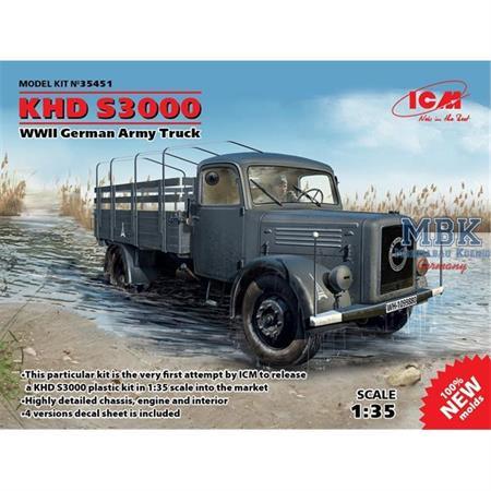 KHD S3000, WWII German Army Truck