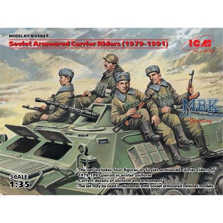 Aufgesessene Sowjetische Truppen 79-91`   4 Fig.
