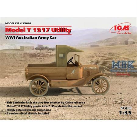 Model T 1917 Utility, WWI Australian Army Car