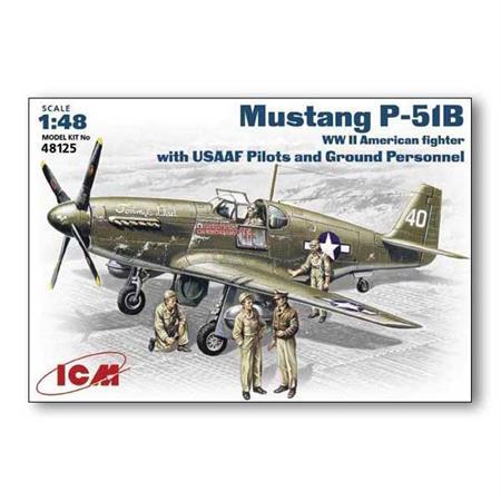 P-51B Mustang + Pilot/Crew