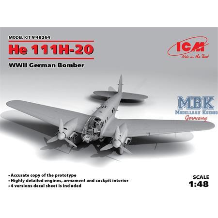 Heinkel He 111H-20, WWII German Bomber