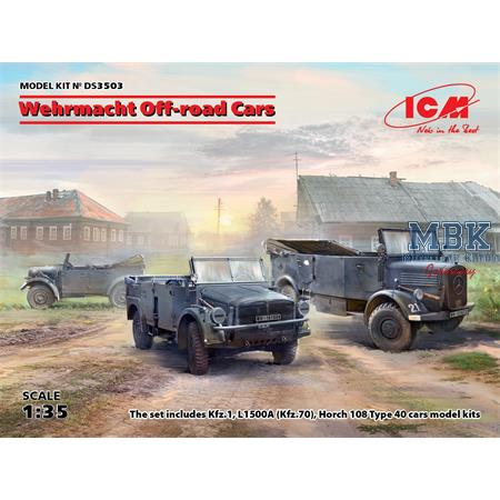 DIORAMA SET - Wehrmacht Off-road Cars