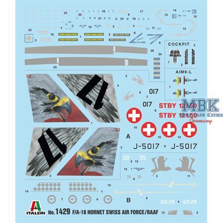 F/A-18 Hornet Swiss Air Force - RAAF 1/72