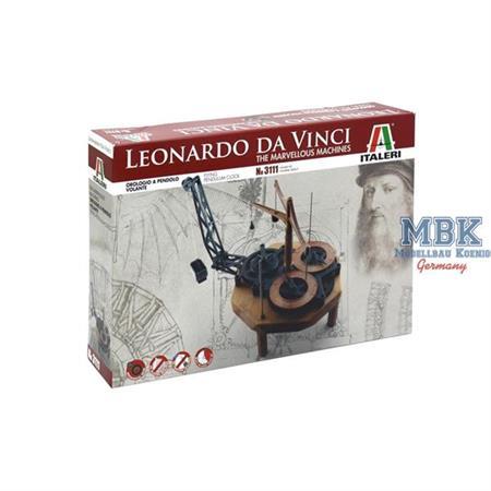 Leonardo DaVinci Flying Pendulum Clock