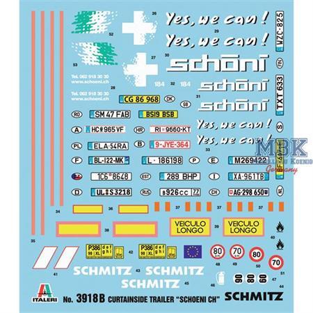 "CURTAINSIDE TRAILER ""Schoeni.ch"" 1:24"